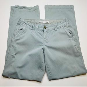 Old Navy Light Blue Distressed Chino Pants Size 6